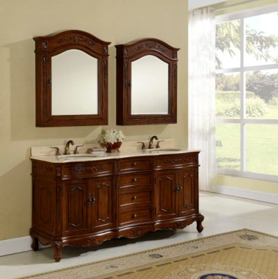 Kensington 72′ Teak with Matching Medicine Cabinet