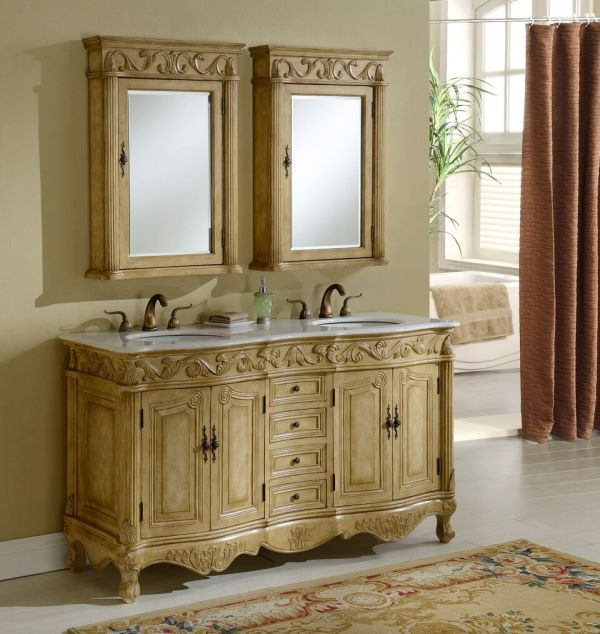 Tuscany 60′ Tan Double with Matching Medicine Cabinet