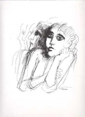 dibujos y grabados Luis Saavedra