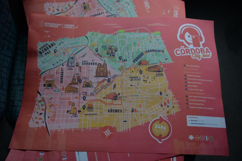 Mapa del city tour de Córdoba