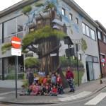 Unieke street-art aan centrumscholen