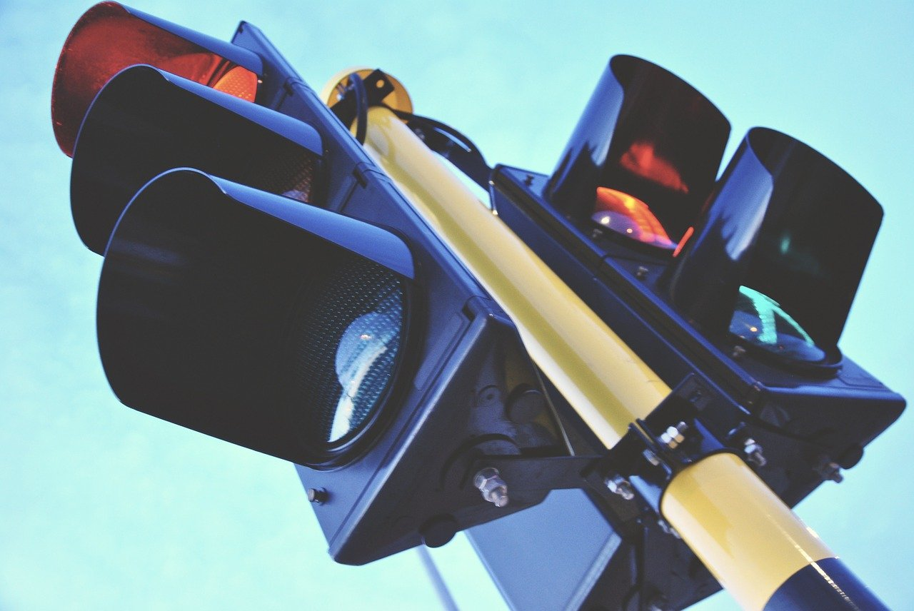 traffic light, traffic, blue-1360645