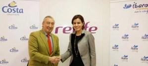 Renfe integra el viaje en tren en el producto de Costa Cruceros