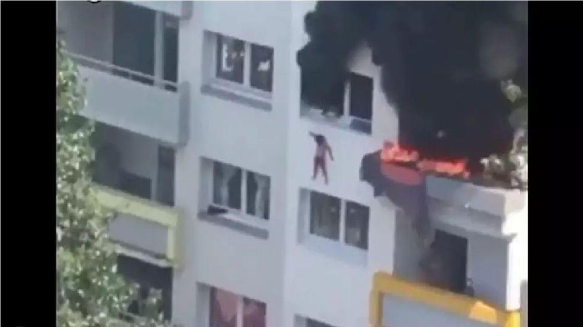 Impressionante: Duas crianças saltam de mais de 10 metros para escapar de incêndio na França