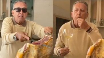 Em meio a pandemia, Galvão Bueno ostenta presunto de R$ 7 mil e ensina internautas a comerem; VEJA!