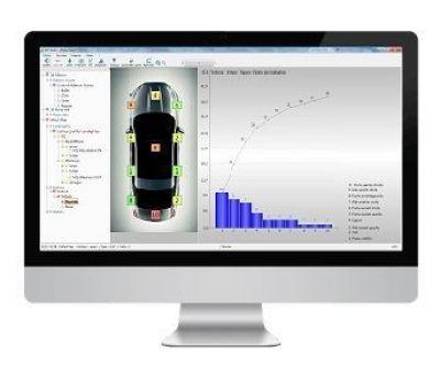 Le logiciel Defect Map, module de SPC Vision permet de localiser les défauts.