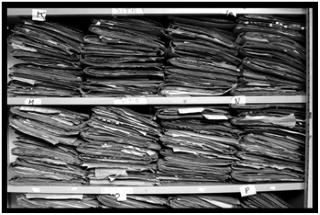Avant Check'n Go, beaucoup de papier en atelier!