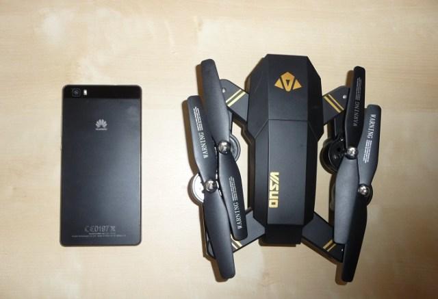 recensione visuo tianqu xs809w-mavic economico-drone giocattolo-app