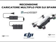 recensione caricatore multiplo dji spark italia- spark battery charging hub ita