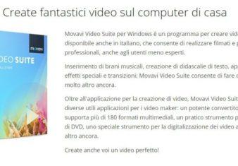 Movavi Video Suite-programma per creare video gratis