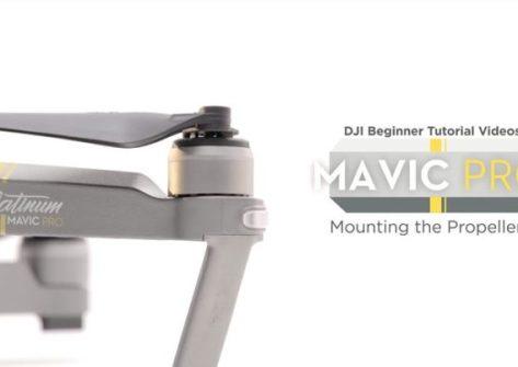 Come montare le eliche nel drone dji mavic pro