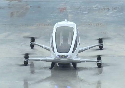 drone ehang 184 video-drone taxi-drone per trasporto persone