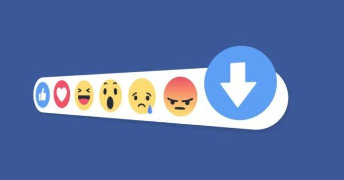 tasto facebook downvote