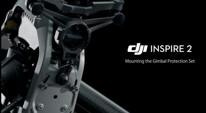 DJI Inspire 2 come montare la protezione per il gimbal