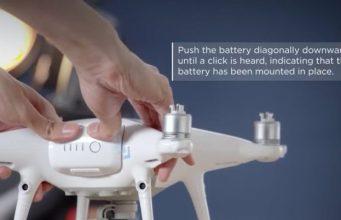 Come montare batteria dji phantom 4