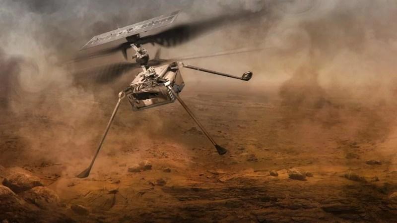 El helicóptero Ingenuity logró realizar en Marte el primer vuelo propulsado en otro planeta