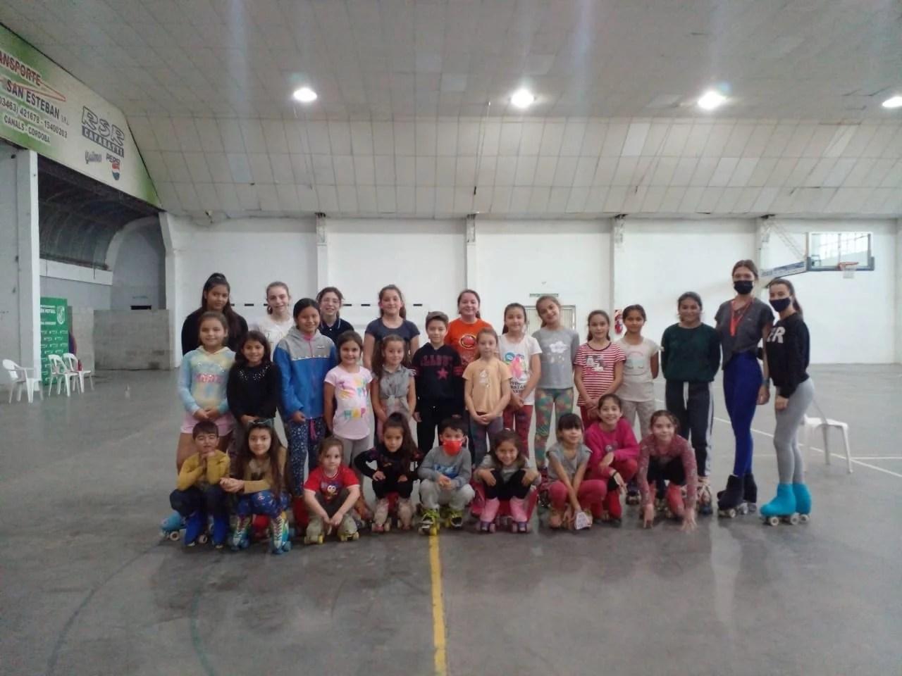Patín Club Libertad: cada vez son más niños los que se suman a esta disciplina.