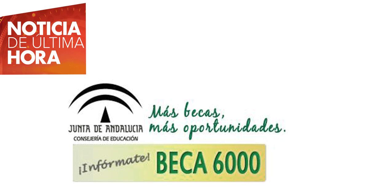 Convocada la Beca 6000 en Andalucía para el curso 2017/18