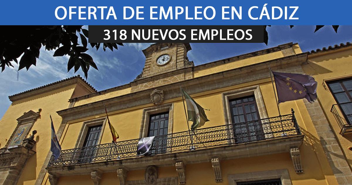318 empleados para trabajar en el Ayuntamiento de Jerez, Cádiz.