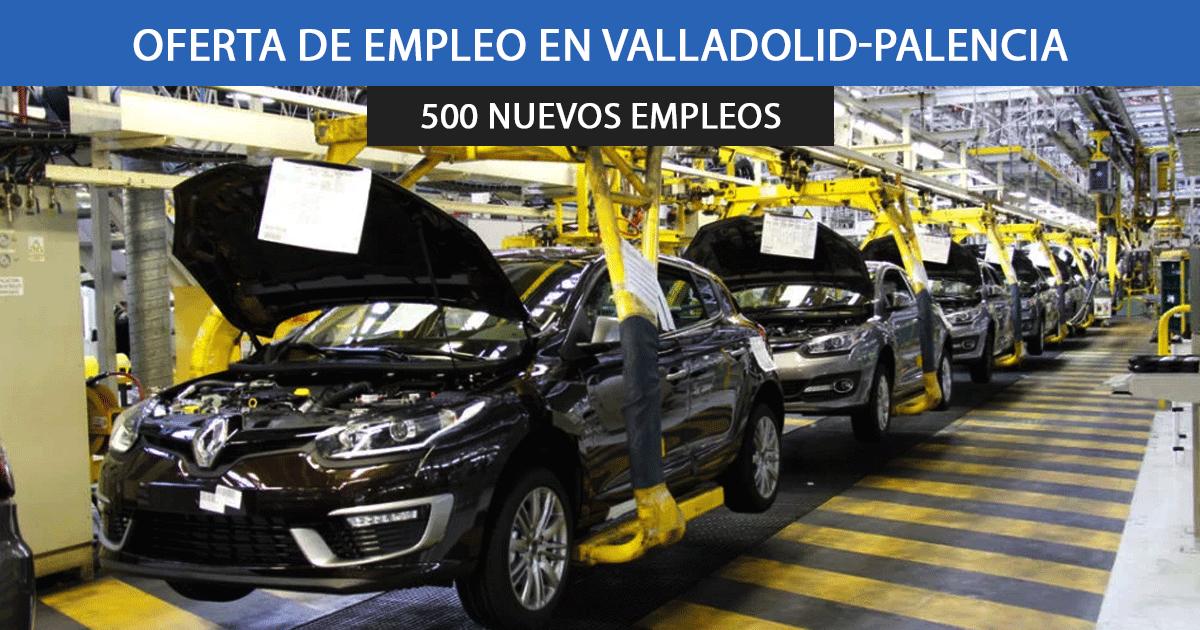 Se necesitan 500 trabajadores para las fábricas de Renault de Valladolid y Palencia