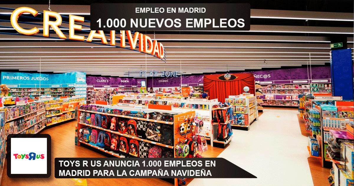 """Se necesitarán 1000 desemplead@s en Madrid para trabajar en Toys""""R""""Us para esta campaña de navidad"""