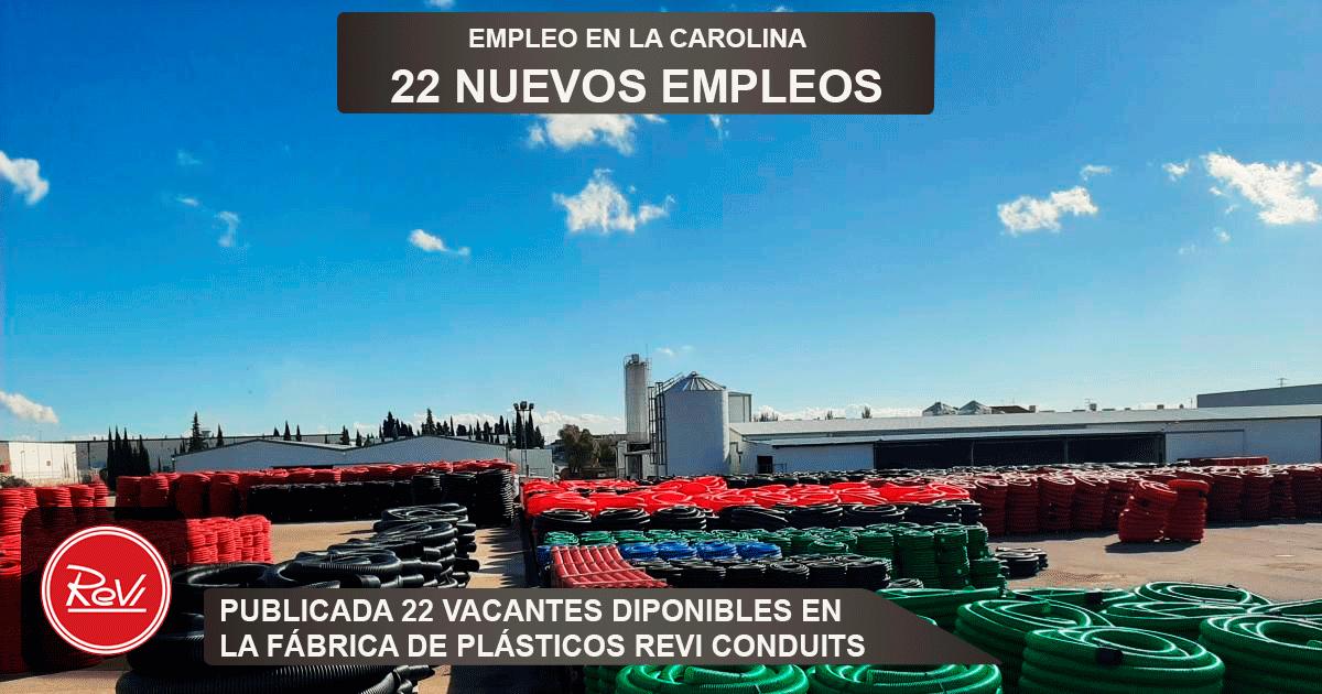 Se necesitan 22 Operari@s en La Carolina (Jaén) para la Fábrica de Plásticos Revi Conduits