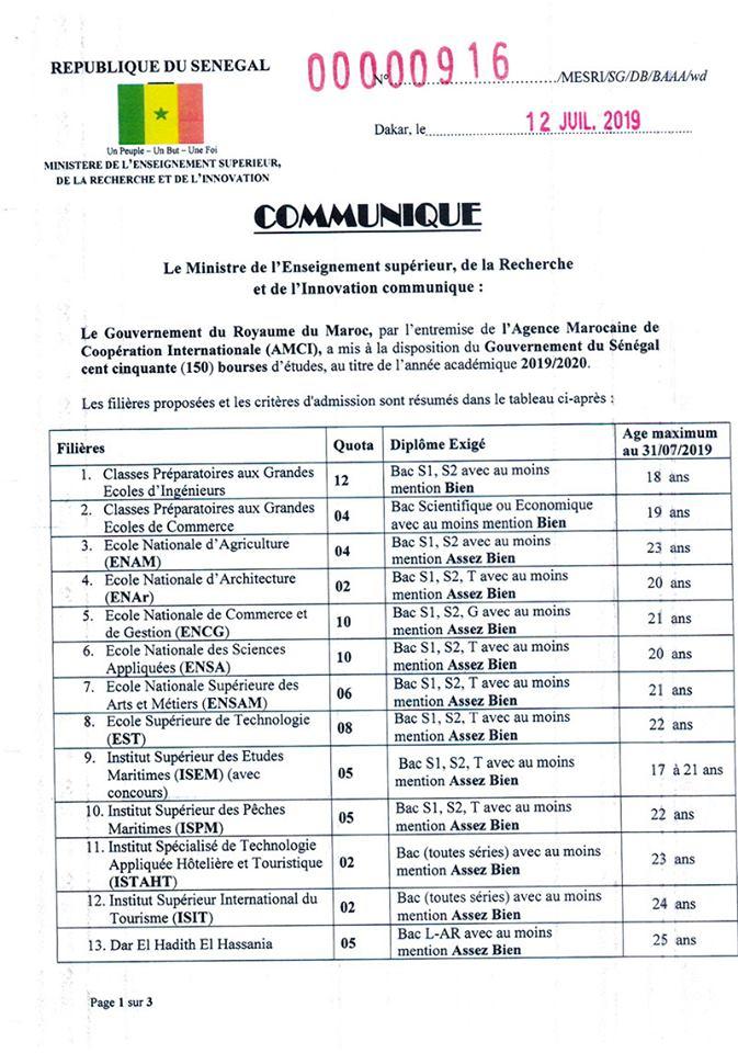 maroc1 Le Maroc offres 150 bourses aux bacheliers sénégalais - Les dépôts sont ouverts