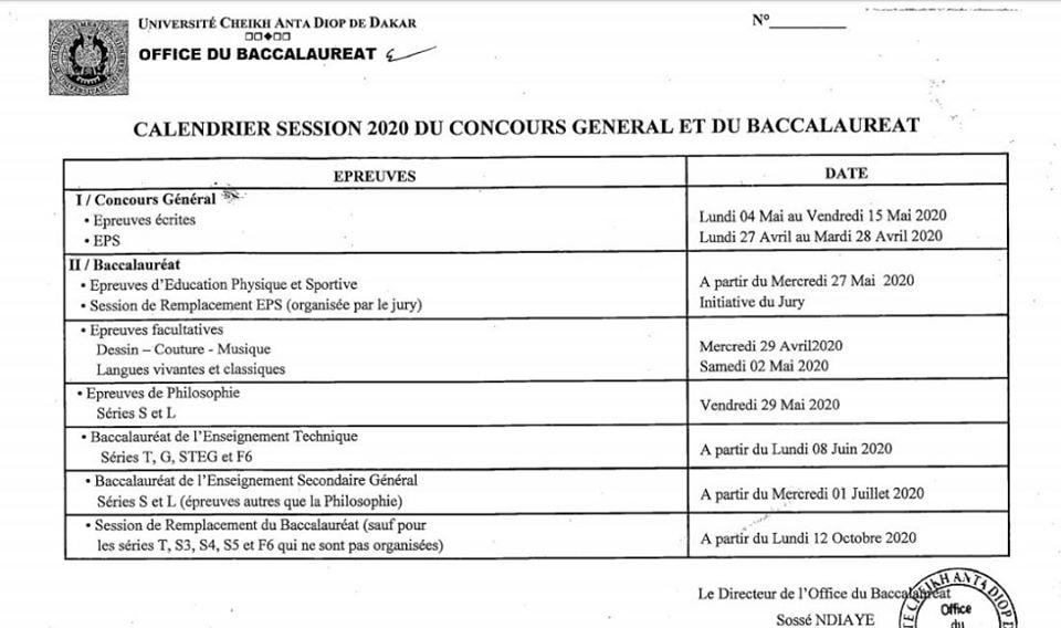 Calendrier Bac 2020.Les Dates Du Baccalaureat 2020 Et Du Concours General Samabac