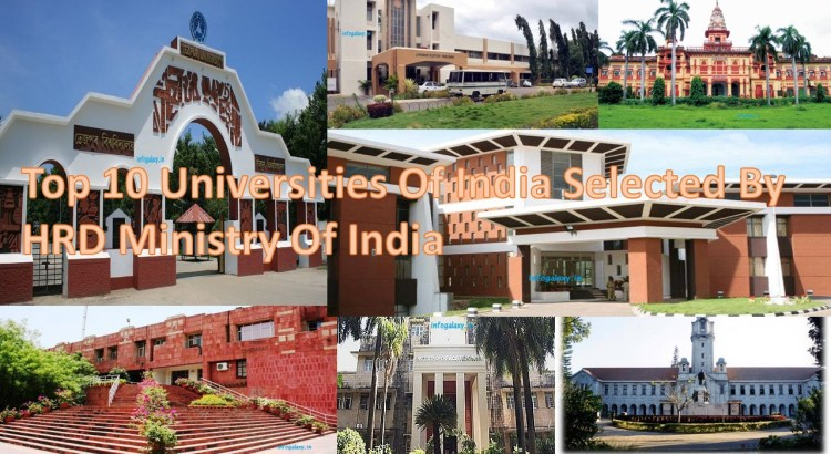 Top 10 Universities Of India Selected By HRD Ministry Of India-infogalaxy.in