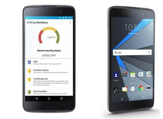 Blackberry Launches DTEK50-Most Secured Android Smartphone