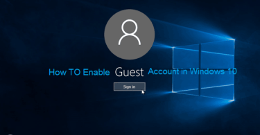 How To Enable Guest Account in Windows 10