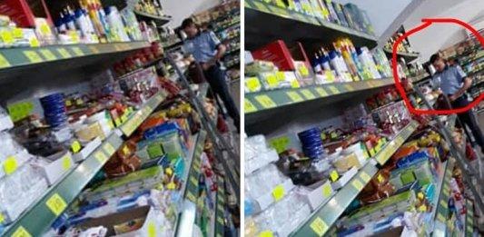 Un polițist din Gorj a fost amendat de colegii săi pentru că nu a purtat mască într-un magazin. Imaginile l-au dat de gol