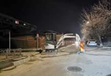 Strada Griviței din municipiu a rămas blocată câteva ore pe un sens