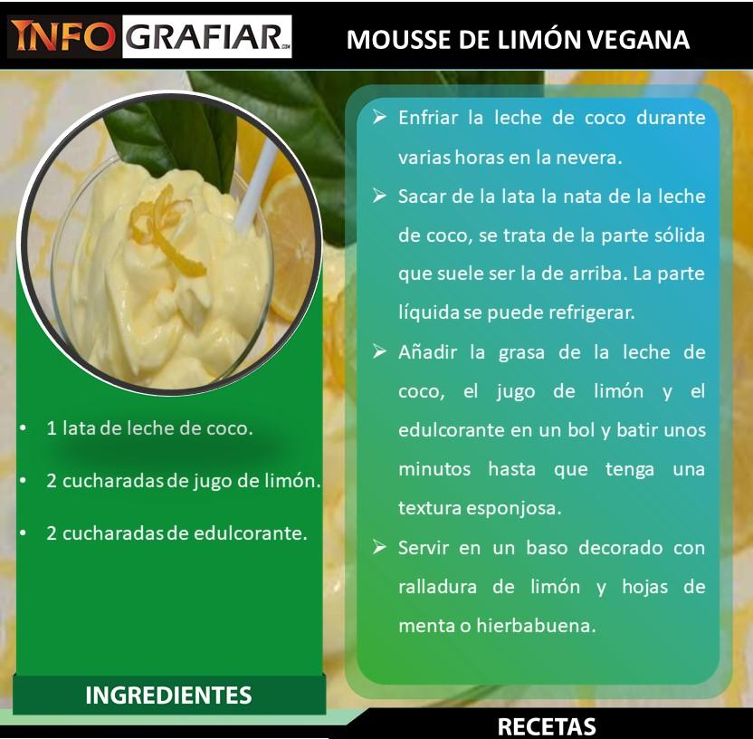 MOUSSE DE LIMÓN VEGANA