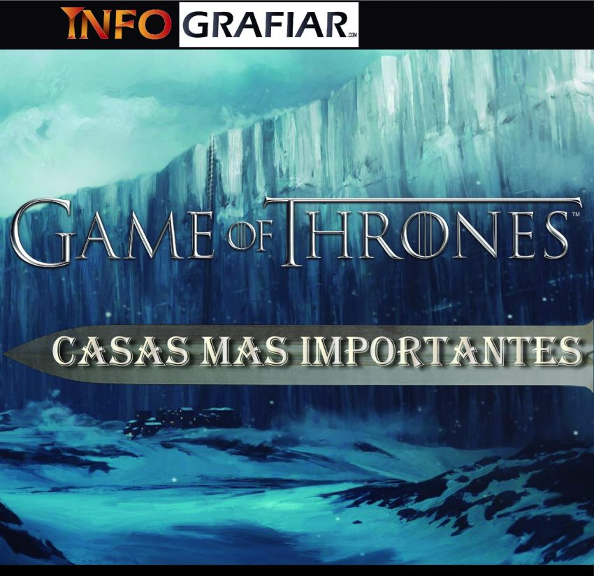 GAME OF THRONES CASAS MAS IMPORTANTES