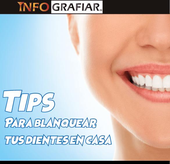 Tips para blanquear tus dientes en casa
