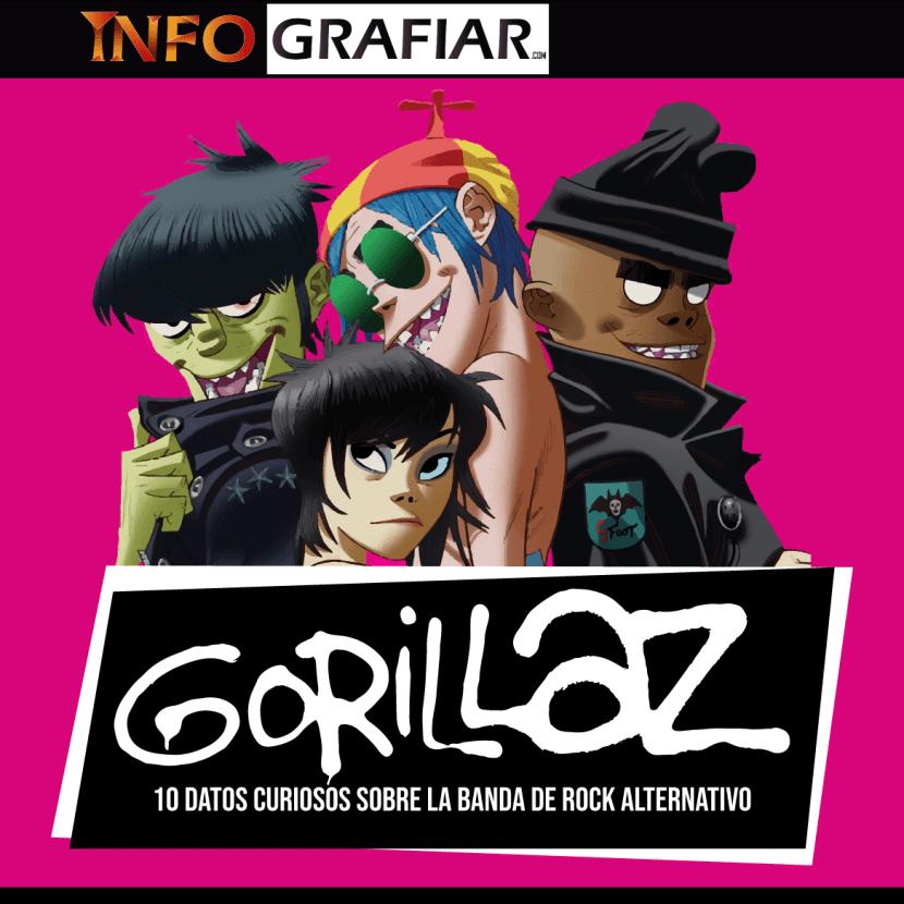 Gorillaz: 10 datos curiosos que quizás no sabías sobre esta agrupación de rock alternativo