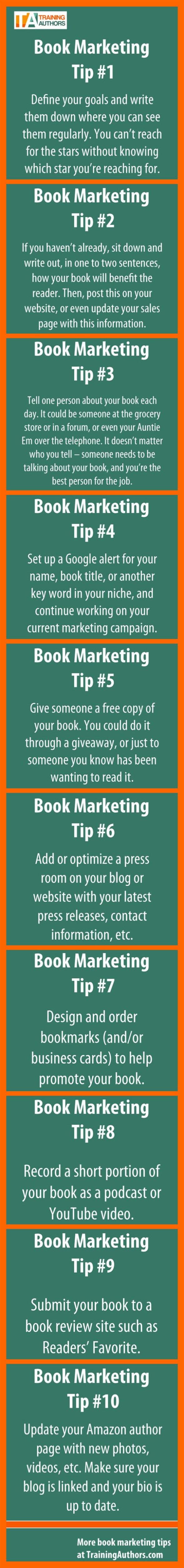10 Book Marketing Tips