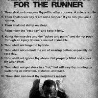 The 10 Commandments for Runners