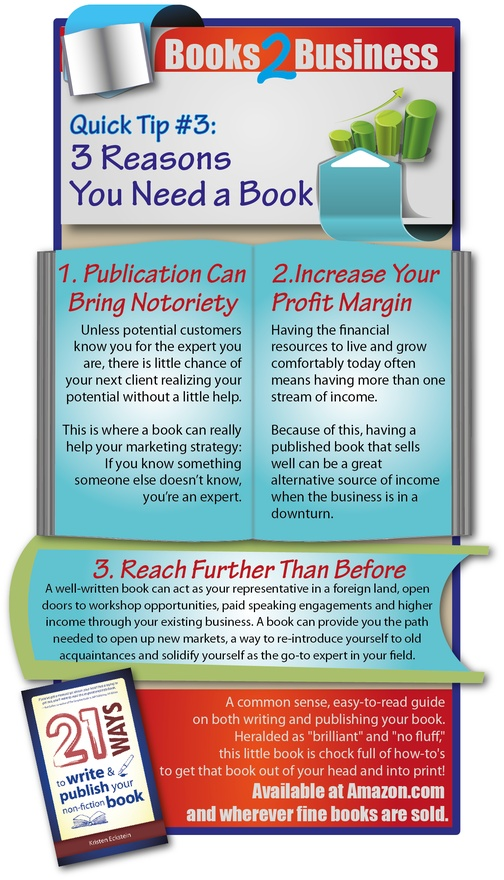 3 Reasons You Need a Book
