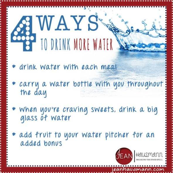 4 Ways to Drink More Water