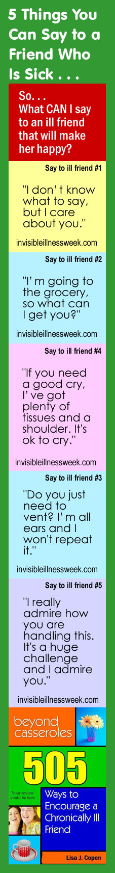5 Things to Say to an Ill Friend