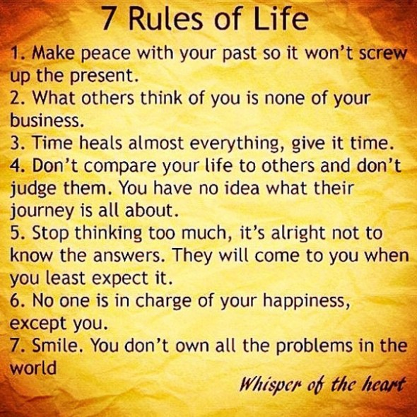 7 Rules of Life, Version III