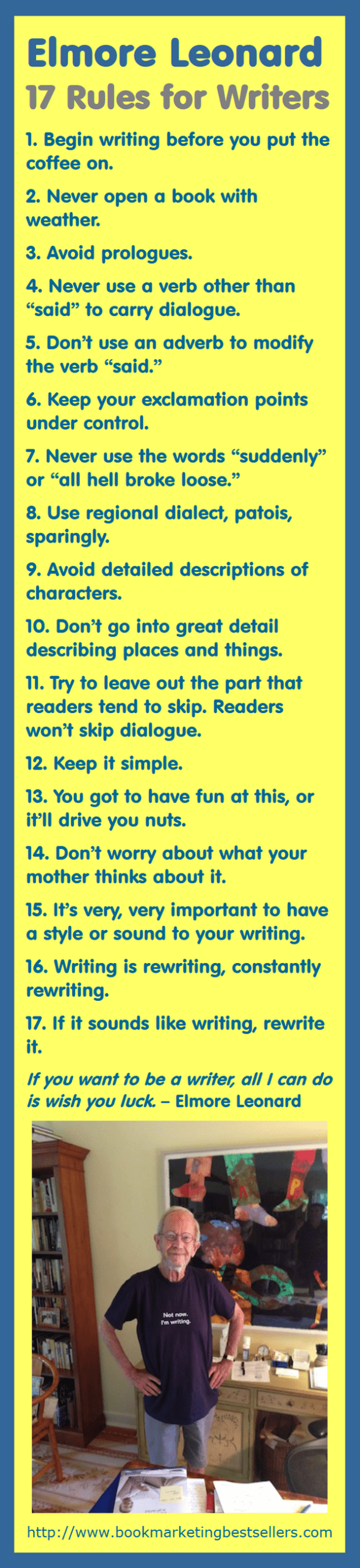 Elmore Leonard: 17 Rules for Writers