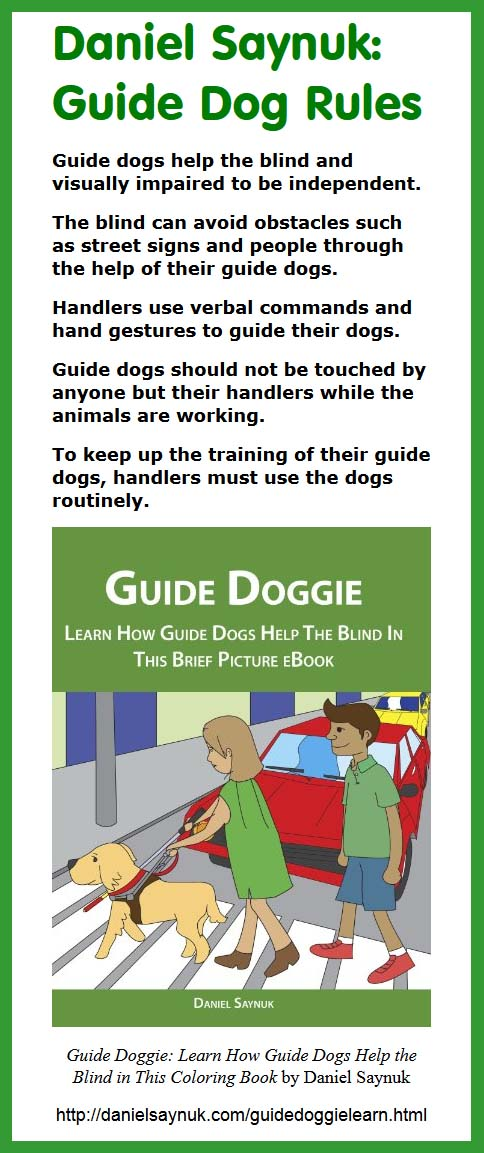 Daniel Saynuk: Guide Dog Rules