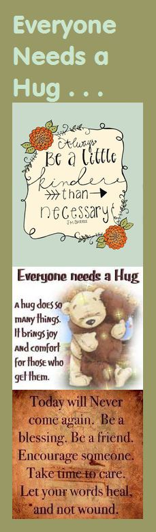Motivational Bookmark - Everyone Needs a Hug