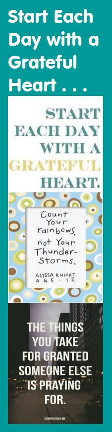 Motivational Bookmark - Start Each Day with a Grateful Heart