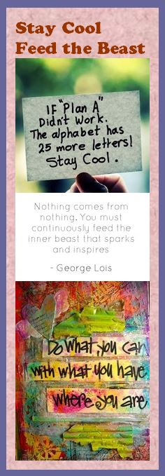 Motivational Bookmark - Stay Cool, Feed the Beast