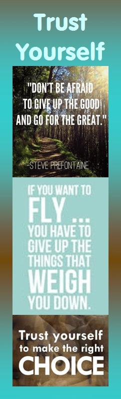 Motivational Bookmark: Trust Yourself