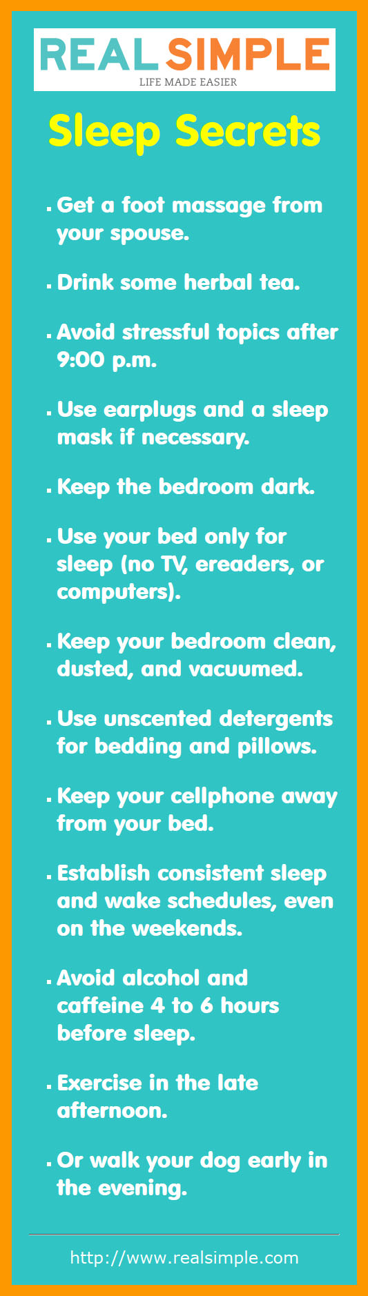 Real Simple Sleep Secrets